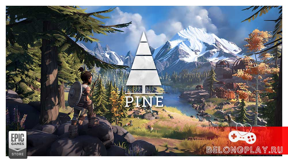 Pine game art logo wallpaper