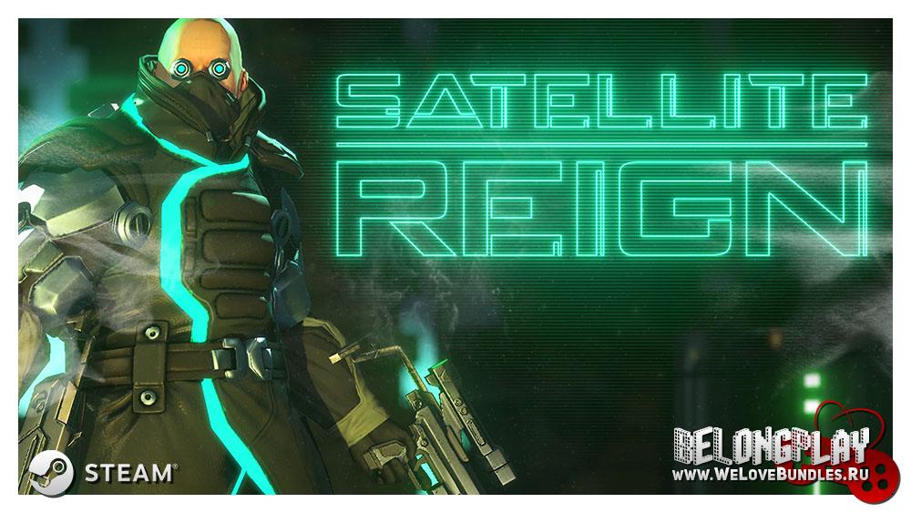 Satellite Reign game logo art wallpaper