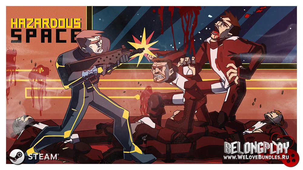 Hazardous Space game logo art wallpaper