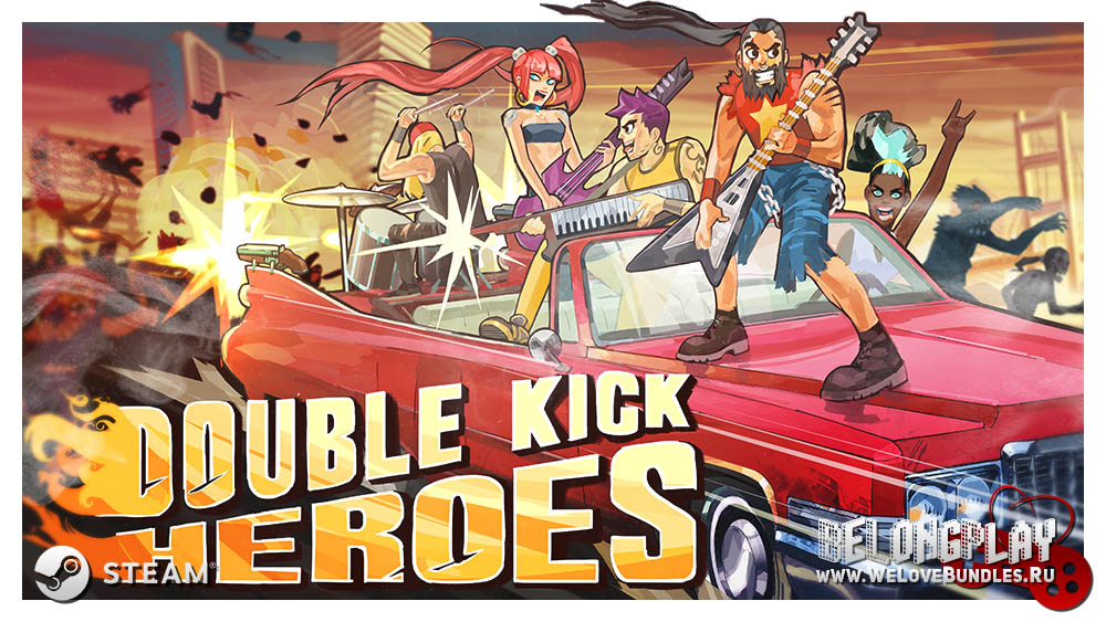 Double Kick Heroes art logo game