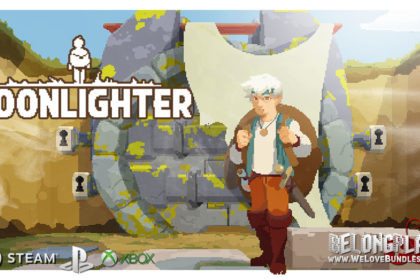 MOONLIGHTER logo game art