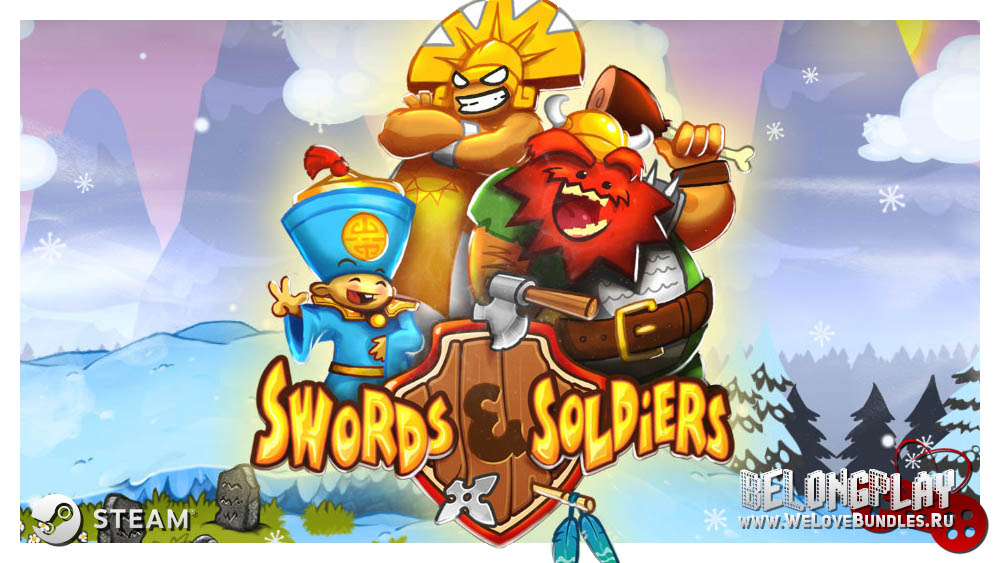 Swords and Soldiers art logo game HD