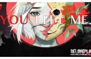 You Left Me game art logo