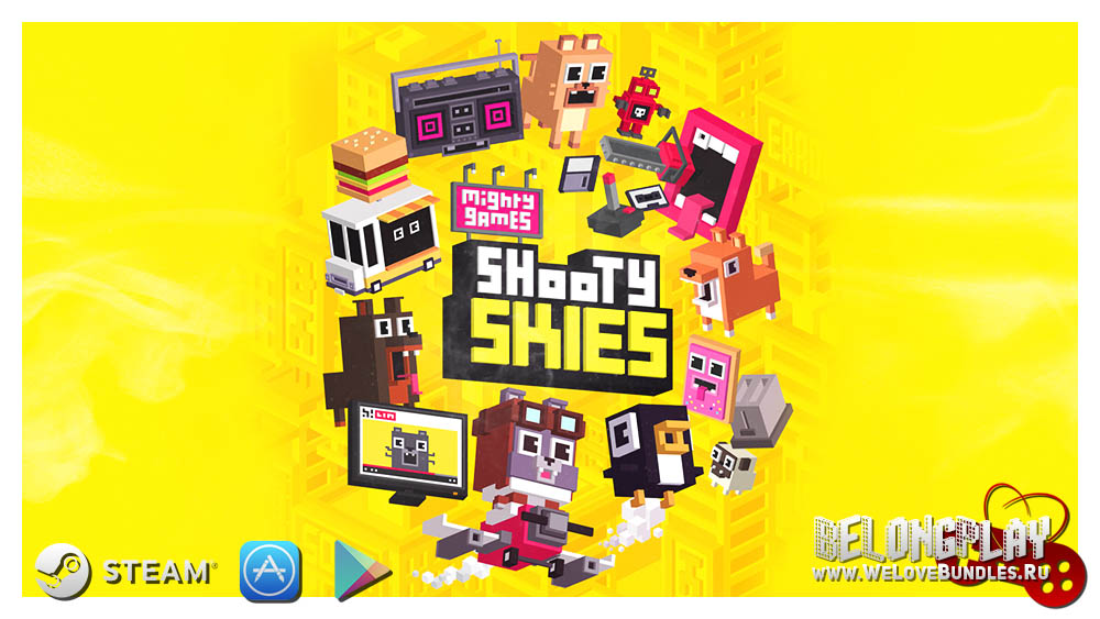 SHOOTY SKIS game art logo wallpaper