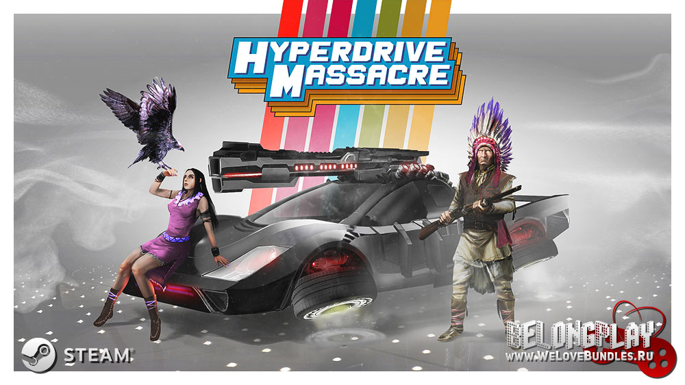 Hyperdrive Massacre art logo wallpaper