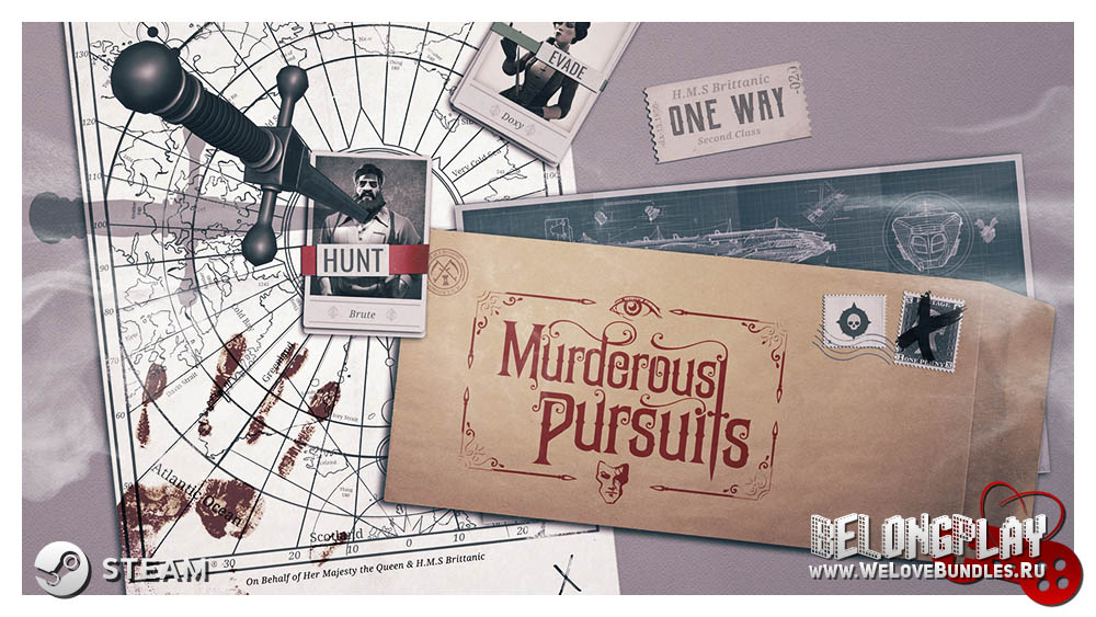 Murderous Pursuits game art logo