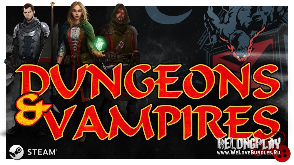 Dungeons & Vampires game logo art
