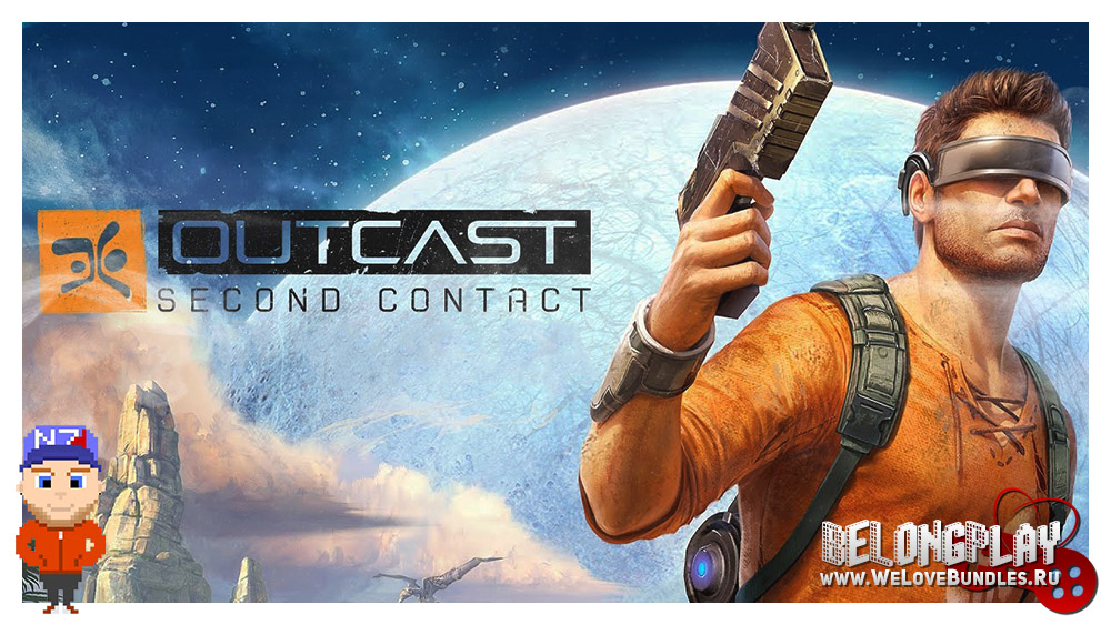 Outcast: Second Contact logo art wallpaper