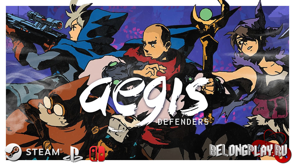 Aegis Defenders logo wallpaper art