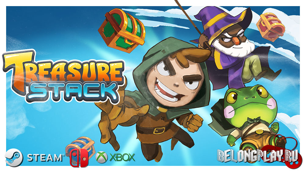 Treasure Stack logo game art