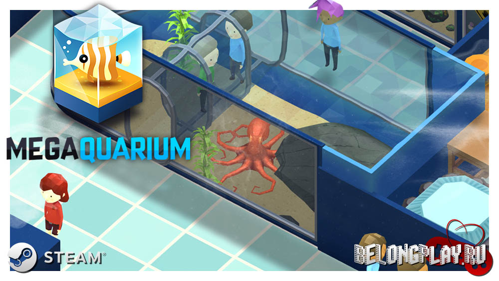 Megaquarium game logo art wallpaper