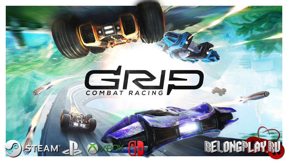 GRIP: Combat Racing art logo wallpaper
