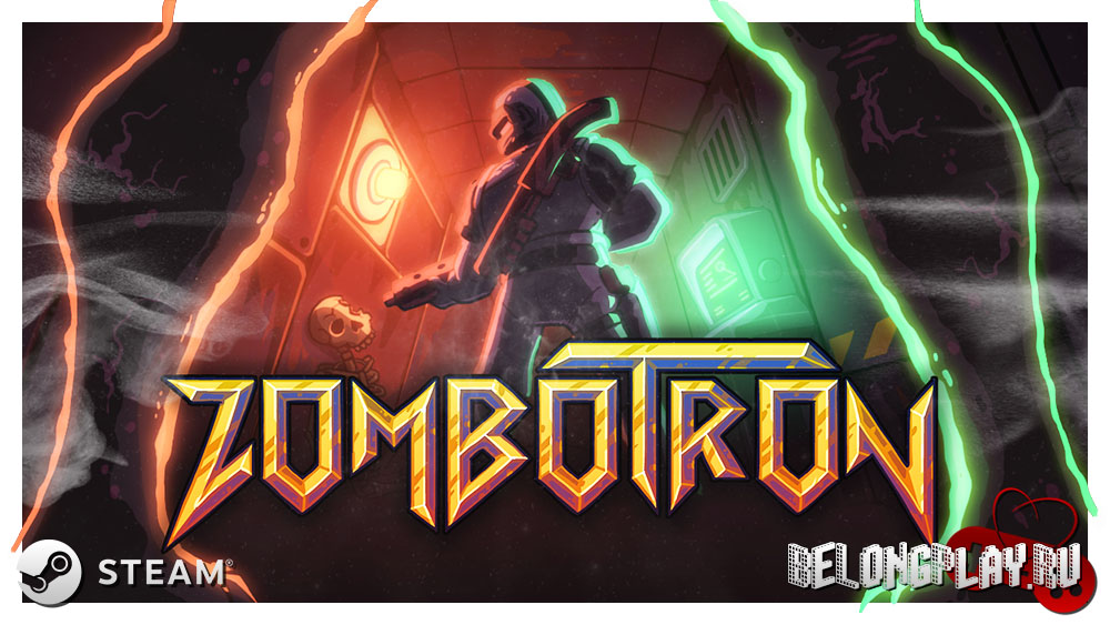 Zombotron game art logo wallpaper