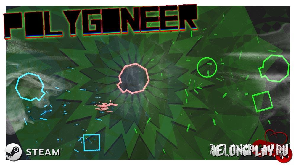 Polygoneer art logo game wallpaper