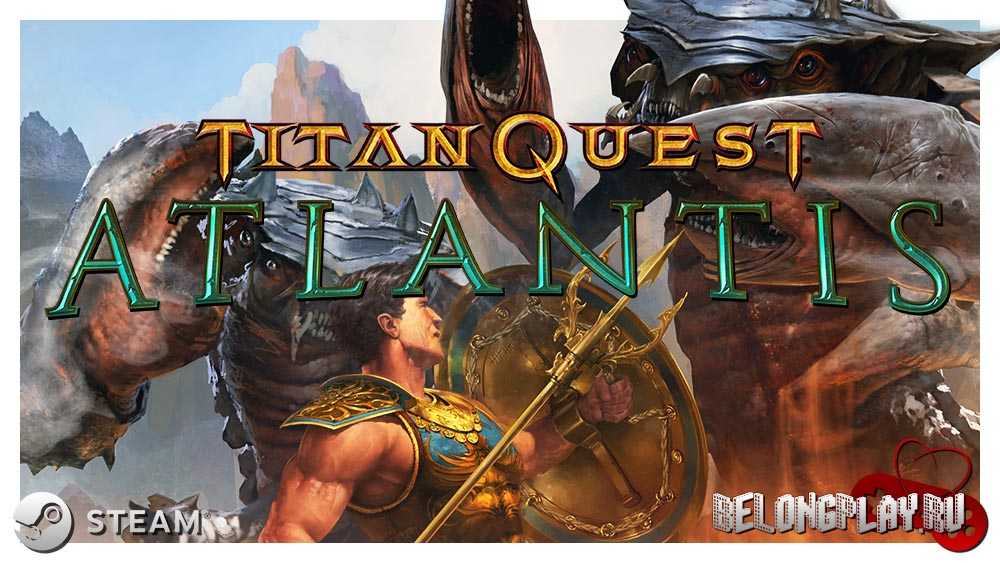 Titan Quest Atlantis logo game art wallpaper