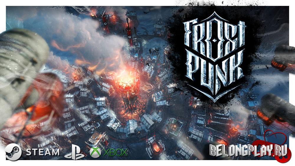 Frostpunk game art logo wallpaper