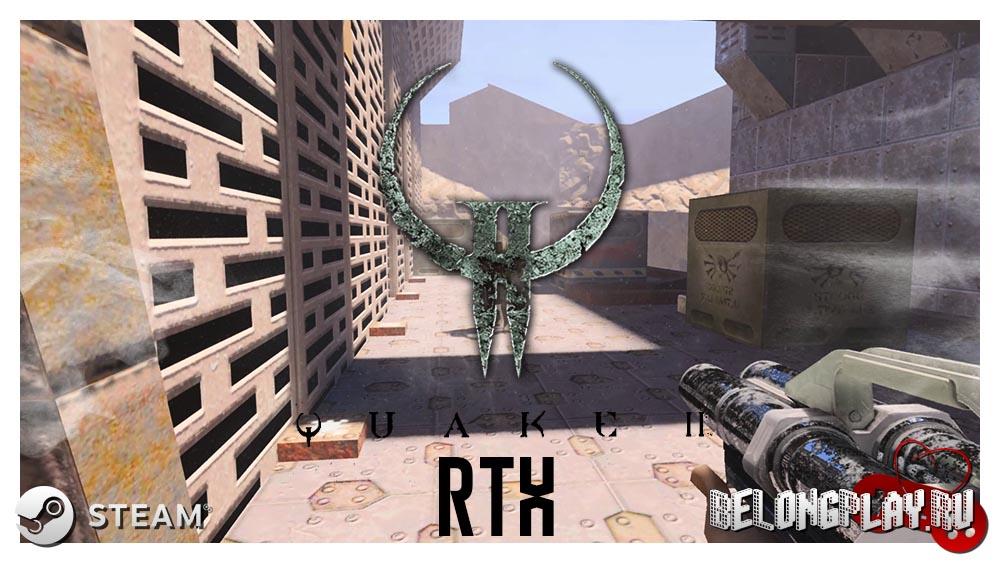 Quake 2 RTX logo art wallpaper
