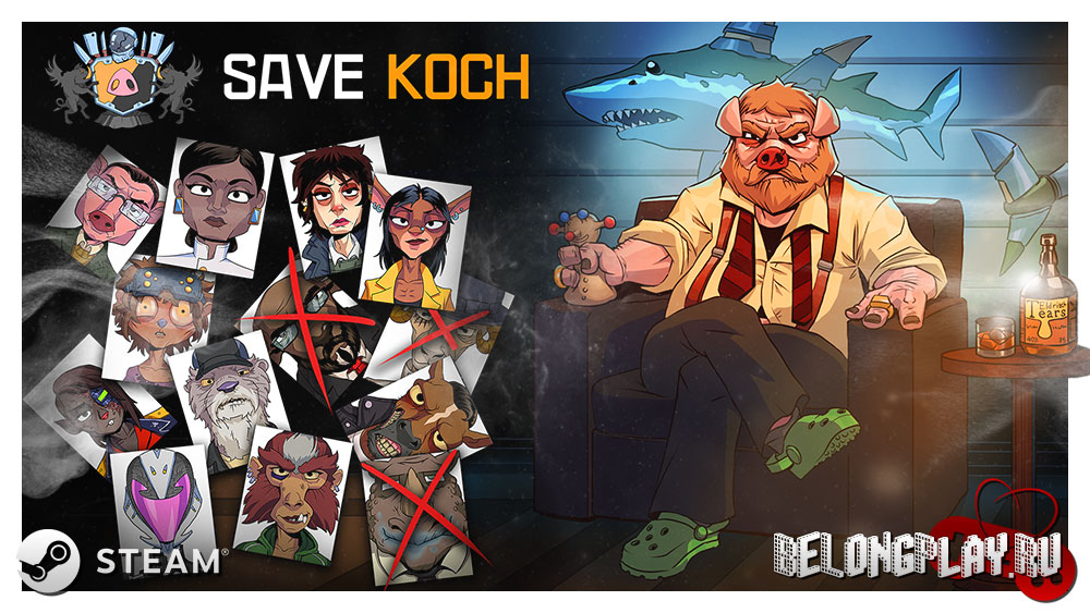 Save Koch game logo art wallpaper
