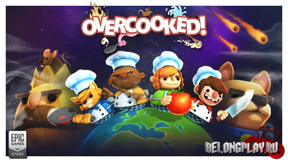 Overcooked game art wallpaper