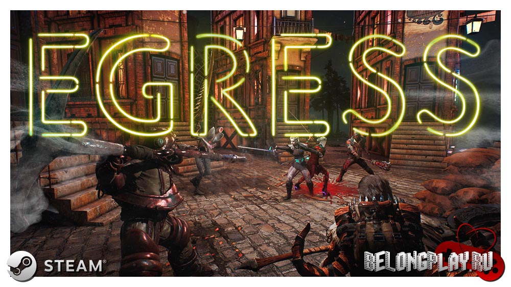 EGRESS game logo art