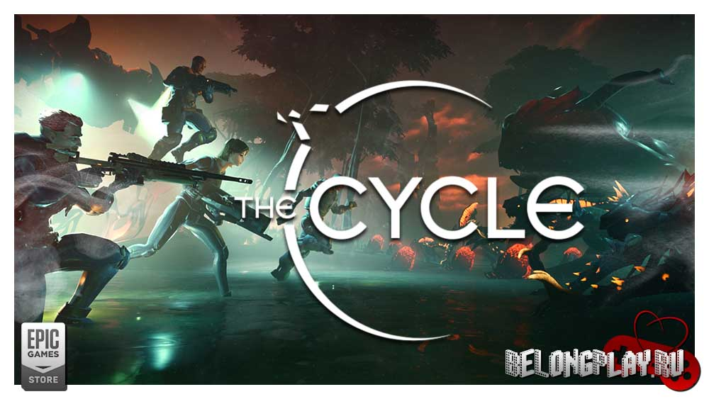 The Cycle game art logo wallpaper