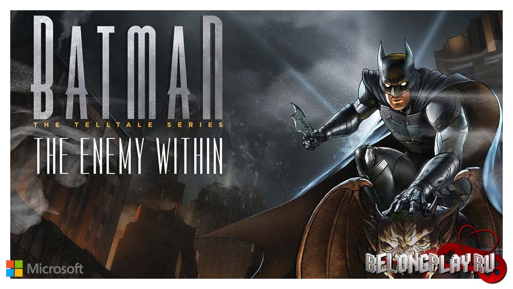 Batman The Enemy Within logo art wallpaper