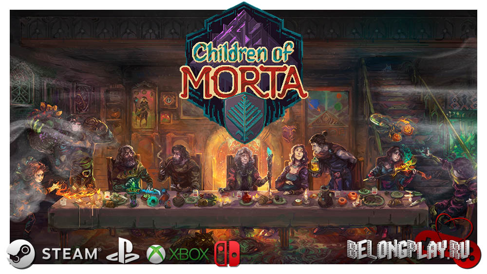 Children of Morta art game wallpaper logo