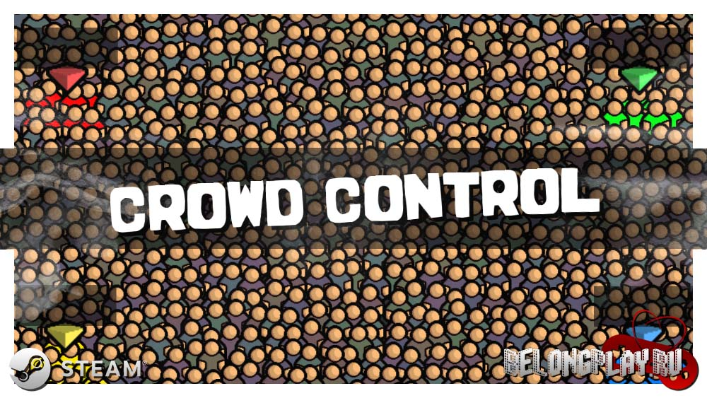CROWD CONTROL game art steam logo