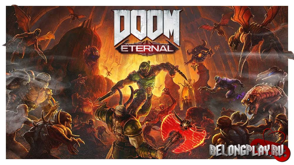 DOOM Eternal game art logo