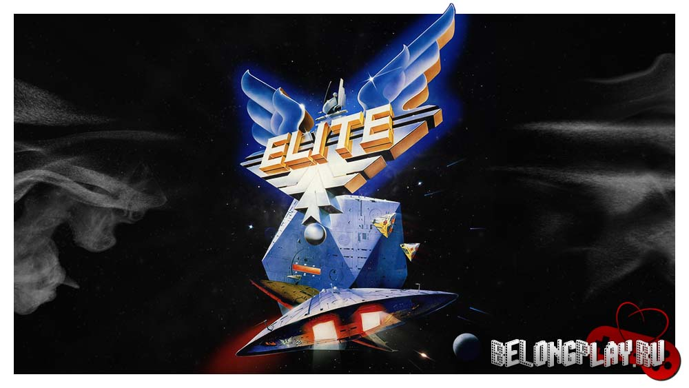 Elite 1984 game logo art