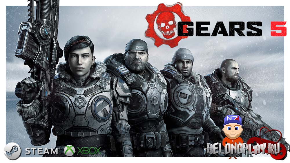GEARS 5 logo art wallpaper