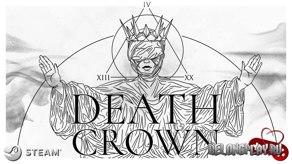 Death Crown game art logo