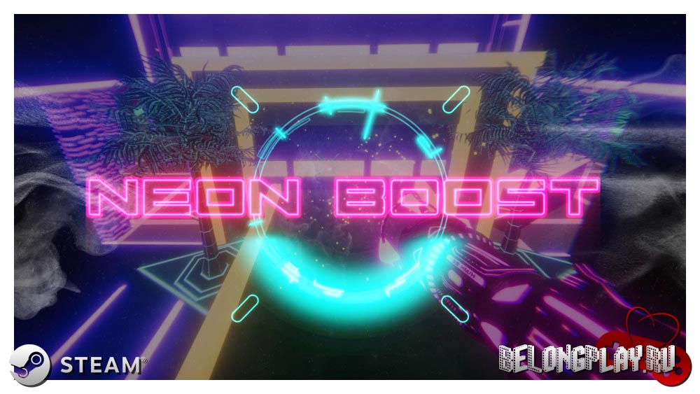 Neon Boost game art logo