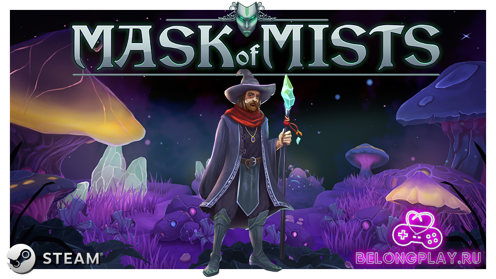 Mask of Mists game art logo